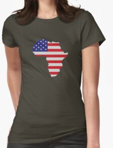 African American Africa United States Flag Womens Fitted T-Shirt