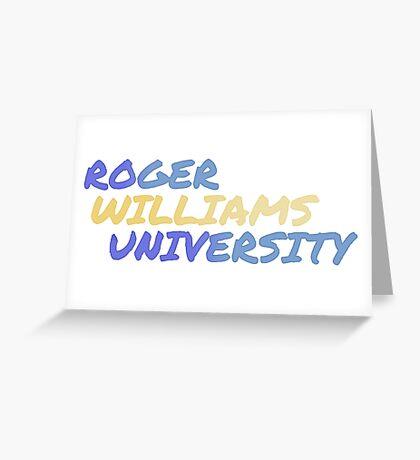 Roger Williams University Greeting Card