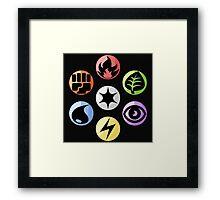 Pokémon TCG (Shaded) Framed Print