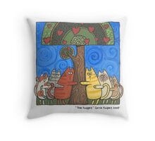 Tree Huggers Throw Pillow