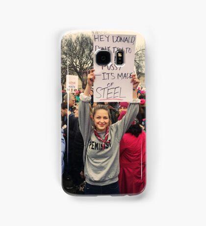 Melissa Benoist to Trump (Women's March Washington) Samsung Galaxy Case/Skin