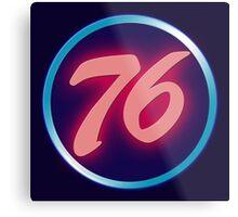 76 Neon Metal Print