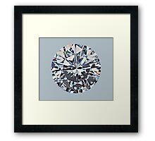 Diamond (on silver) Framed Print