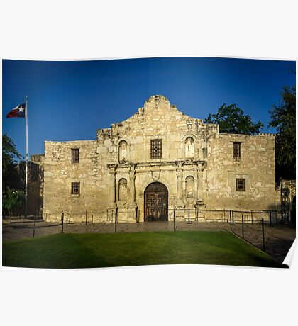 Travel Sky Landscape Blue Wall Tapestry - EMPTY ALAMO - tapestries Poster