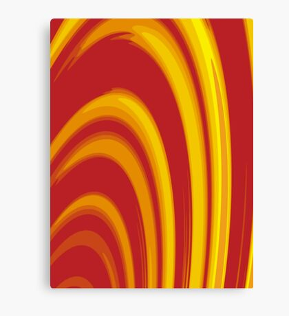 Burning Paper Hoops Canvas Print