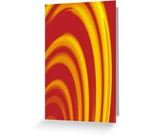 Burning Paper Hoops Greeting Card