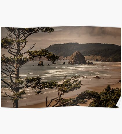 Beach Water Travel - Cannon Beach Oregon Wall Art Tapestry - Photograph Poster