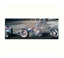 Miller Tools 75th Anniversary Bike; Long Beach California USA (Orange County Choppers Production) Art Print