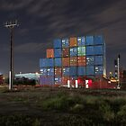 Containers at Night by Gavin Kerslake
