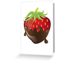 Chocolate Covered Strawberry  Greeting Card