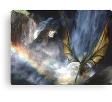 Water Dragon Rainbow Canvas Print