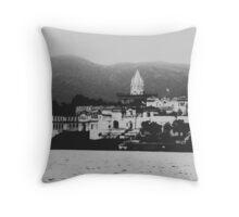 Pushkar Ghat Throw Pillow