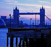 Tower Bridge at dusk by Shanz