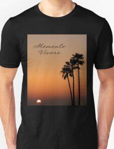 Three Palm Sunset - Memento Vivere Unisex T-Shirt