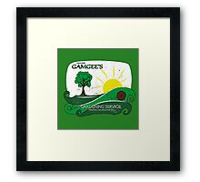 Gamgee's Gardening Services Framed Print