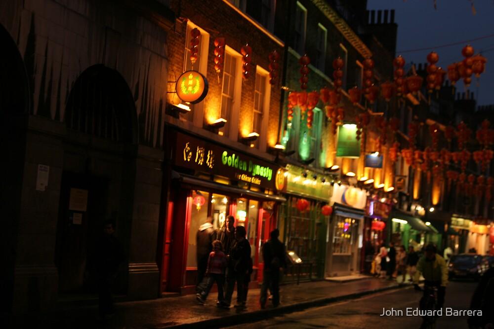 Chinatown, London, England by John Edward Barrera