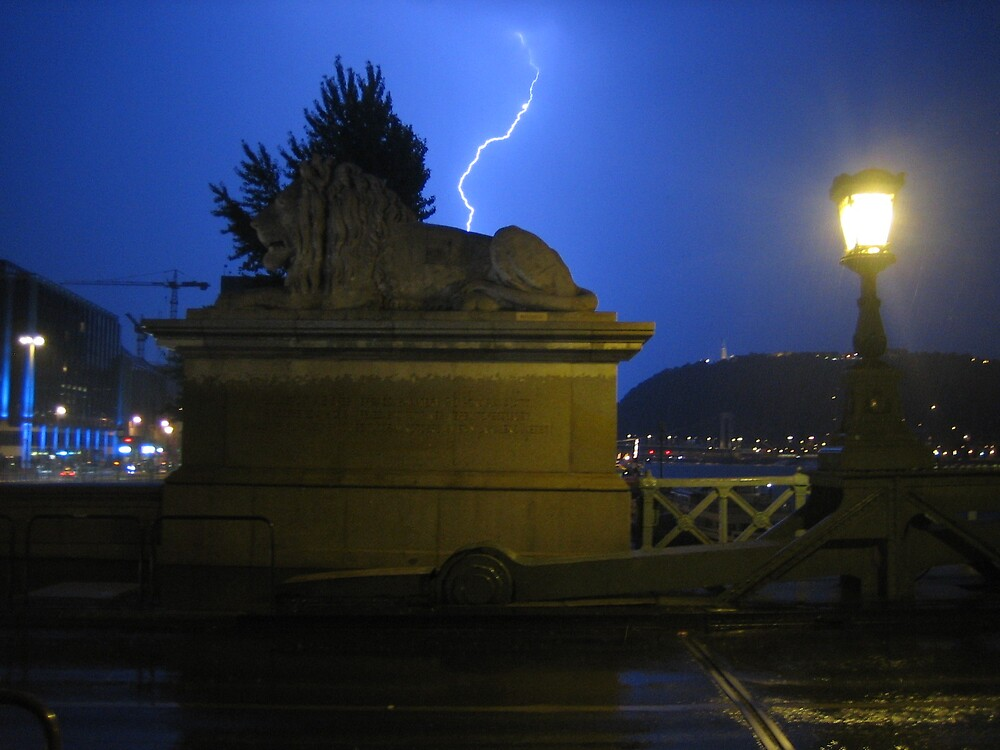 Midnight storm in Budapest by chartling