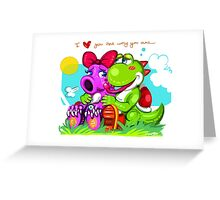 Birdo and Yoshi Greeting Card