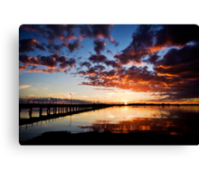 Port Broughton at Dusk Canvas Print