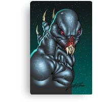 Red Eyed Evil Alien Sci-Fi Monster by Al Rio Canvas Print
