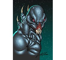 Red Eyed Evil Alien Sci-Fi Monster by Al Rio Photographic Print