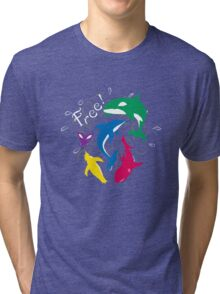 "The Animals of ""Free!"" Tri-blend T-Shirt"