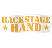 BACKSTAGE hand Theater helper Poster