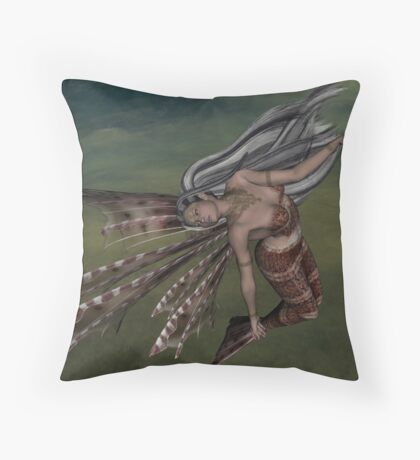 Mermaid Fantasy Throw Pillow
