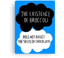 The Existence of Broccoli Canvas Print