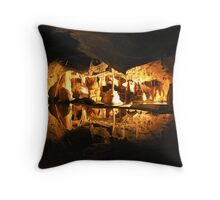 Cox's Cave, Cheddar, England  Throw Pillow