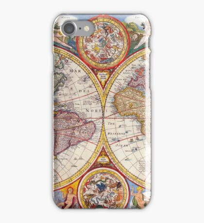 Vintage Antique Old World Map cartography iPhone Case/Skin