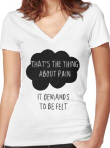 That's the Thing About Pain Women's Fitted V-Neck T-Shirt