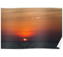 sunset from Kupang beach Poster