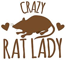 CRAZY RAT LADY Photographic Print