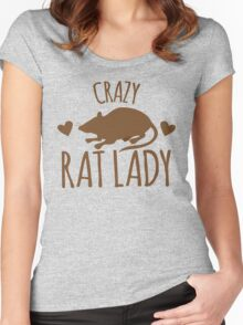 CRAZY RAT LADY Women's Fitted Scoop T-Shirt