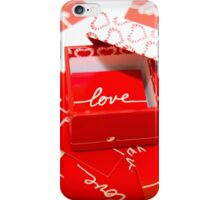Love in a Box - Red iPhone Case/Skin