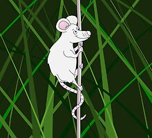 Mouse in the Grass by piedaydesigns