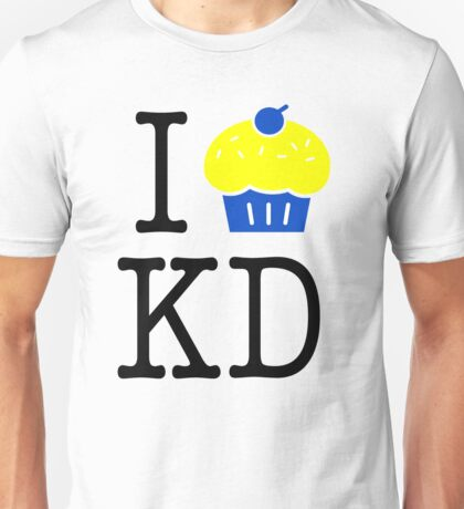 "GSW - I Heart KD Kevin Durant Cupcake ""Reverse Troll"" Shirt Unisex T-Shirt"