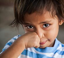 Faces of Timor #12 in colour - bashful by New Hope Australia