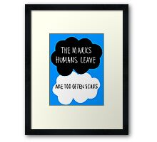 The Marks Humans Leave Framed Print