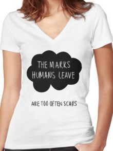 The Marks Humans Leave Women's Fitted V-Neck T-Shirt