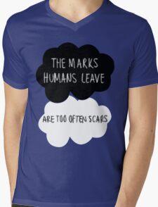 The Marks Humans Leave Mens V-Neck T-Shirt