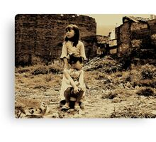 hopefulness demolition... Canvas Print