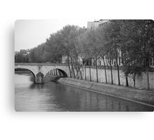 the bank Canvas Print