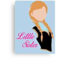 Little Sister Canvas Print