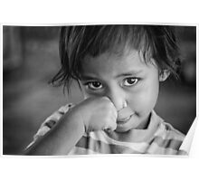 Faces of Timor #12 - bashful Poster