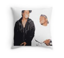 A$AP Rocky and Kendrick Lamar Vintage Style Throw Pillow