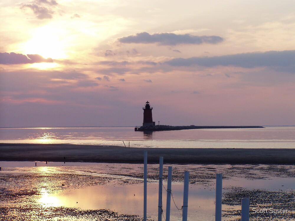 Delaware Breakwater Lighthouse by Scott Syster