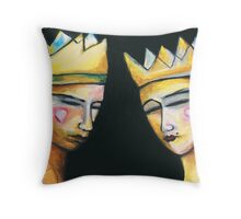 King & Queen of hearts Throw Pillow