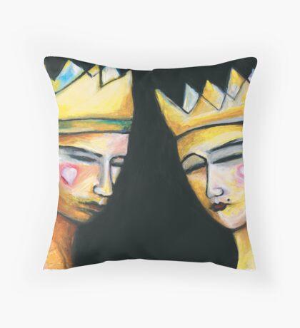 King & Queen of hearts Throw Pillow